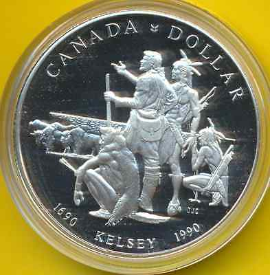 "Canada  1 Dollar  1990  KM 170  Proof  ""Henry Kelsey"""