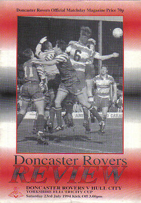 1994  DONCASTER ROVERS v HULL CITY..(YORKSHIRE ELECTRICITY CUP)