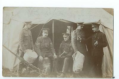 Herefordshire RP of Herefordshire Regiment soldiers in camp @1910