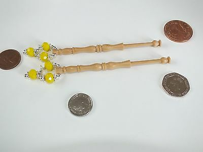 Lace bobbins made from HEDGEROW BOX WOOD   (Ref  803)