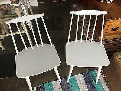 Pair of Mobler Dining Chairs Folke Palsson J77 (1970s)