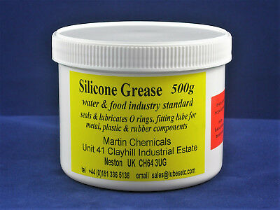 Silicone Grease 500gm  (17.6 oz) pot water/food ok - for plastics & rubber