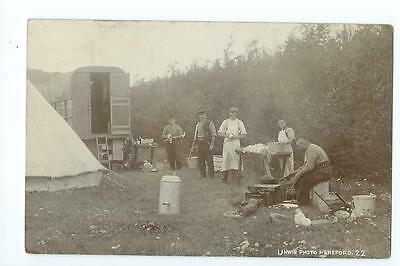 Herefordshire RP by Unwin, Herefordshire Regiment camp at Windmill Hill PU 1906