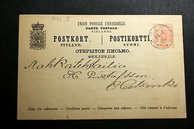 Finland 1890 stationery post card