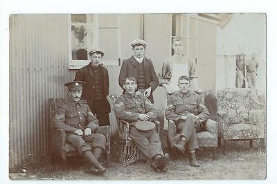 Herefordshire RP of soldiers relaxing at the Military Club,Hereford Drill Hall