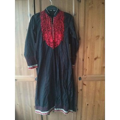Origins Pakistan Suit Black White Red Small Embroidered Salwar Shalwar Dupatta A