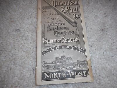 Cm&stpry Milwaukee Road Sept.ember 1,1881  Public Timetable
