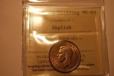 Great Britain 1948 Shilling English  ICCS MS65