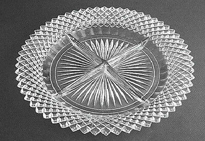 Hocking Glass MISS AMERICA 4-Section Crystal Relish