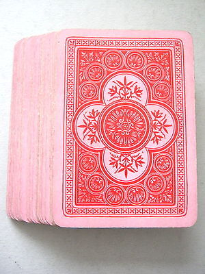 GOODALL 1882 WIDE SMALL INDICE 32 CARD BEZIQUE DECK ANTIQUE PLAYING CARDS 1880s