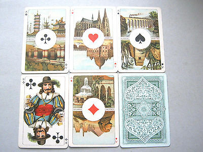 Dondorf 52 Deck Antique Playing Cards Non Standard Courts Aces Linen Box 1900