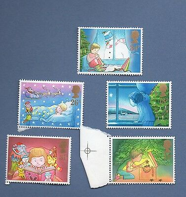 Set Of Five Mint Stamps - Great Britain - Christmas 1987, Mnh