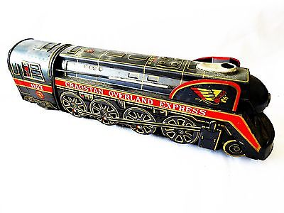 Lovely Old Vintage Cragstan Overland Express Train Tin Plate Toy - Made In Japan