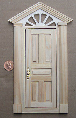 1:12 Scale External Wooden Door & Portico Dolls House Fairy Accessory 499