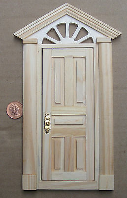 1:12 Scale External Wooden Door & Portico Tumdee Dolls House Fairy Accessory 499