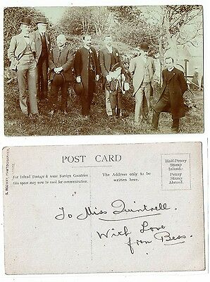 Post Card Real Photo Group Photo Py S Solway Of St Agnes