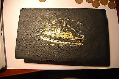 Canada 1959 Leather Box St. Lawrence Seaway Opening By Elizabeth II