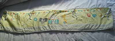 Early Days unisex cot bumper with circus theme