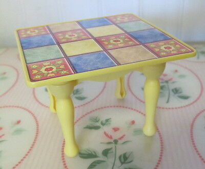 Fisher Price Loving Family Dollhouse KITCHEN TABLE Yellow Legs