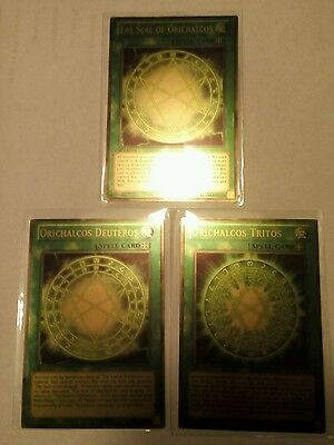 Orichalcos Tritos, Deuteros, Seal, Gold Rare Orica/anime Version yugioh