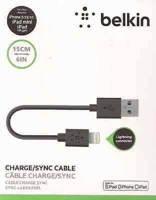 BELKIN KABEL LIGHTNING MIXIT CHARGE SYNC MFI CERTIFIED 15CM iPhone ipad Air ipod