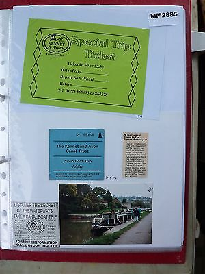 M2885 Kennet and Avon. 2 K&A CT Canal Boat Ticket/s Inc The Jubilee