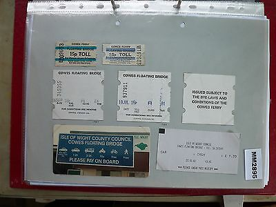 M2895 Isle of Wight. 6 Cowes Floating Bridge Ferry Ticket/s Plus Photo