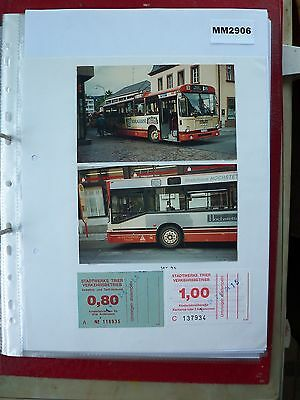 M2906 Germany, Trier. 2 STV Bus/Tram Ticket/s Plus Photos