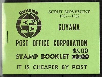 """Guyana 1982 Scout Movement Booklet #4 MNH XF """"Rare"""""""