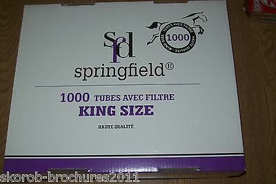 1000 SPRINGFIELD Make Your Own Cigarette Tubes. King Size.SALE!! NOW £6.50