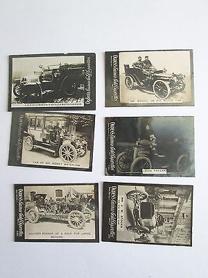 "6 x "" MOTORING"" CARDS  FROM OGDEN'S GUINEA GOLD CIGARETTES"