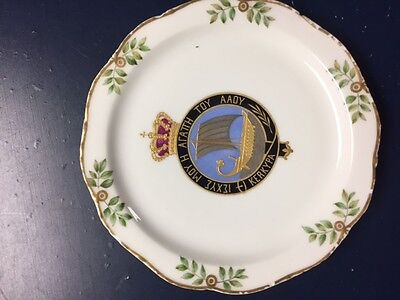 Greek King  Plate Early 20Th Century Colorful Good Condition