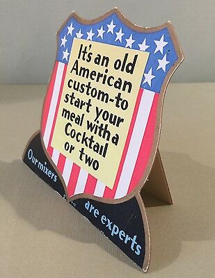 """VINTAGE 1950s LOS ANGELES BAR&GRILL """"DOWN TOWNER"""" DISPLAY COCKTAIL LOUNGE SIGN"""