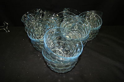 (20) Sapphire Blue Anchor Hocking Bubble Cups
