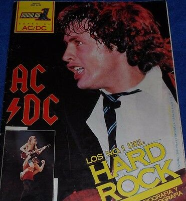 Ac/dc Special Magazine Popular 1 Complete+Giant Poster 1982