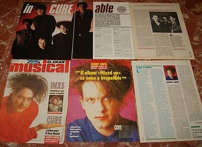 The Cure Spanish Clippings Lot