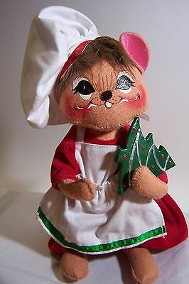 Annalee Christmas Baker Mouse 9 inches tall 2007