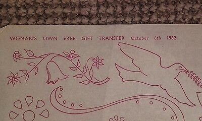 Vintage embroidery transfer - October 1962 - various designs