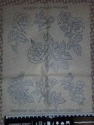 Vintage embroidery transfer - My Home - 1960
