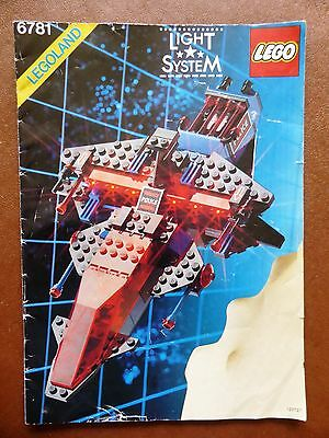 Lego Space Police 6781 Sp-Striker Instruction Booklet In Good Condition