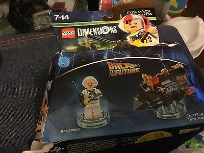 Lego Dimensions Doc Brown Back To The Future  Fun Pack  ** Unused **