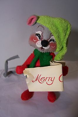 """Annalee (c) Mobilite Christmas Carol Mouse with Music 5.5"""" - read description"""