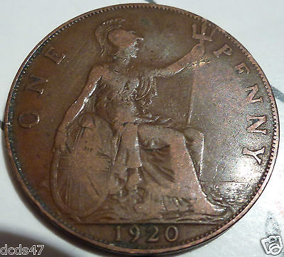 1920 George V Penny Coin Coin Hunt