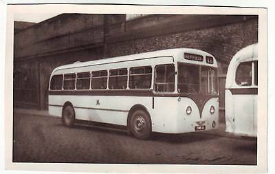 Vintage Picture Of A Bus Sheffield Corporation  At Manchester Exchange