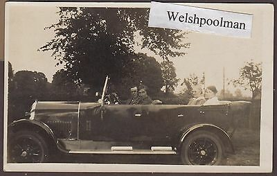 Lovely Unknown Vintage Car & Occupants Real Photo Postcard