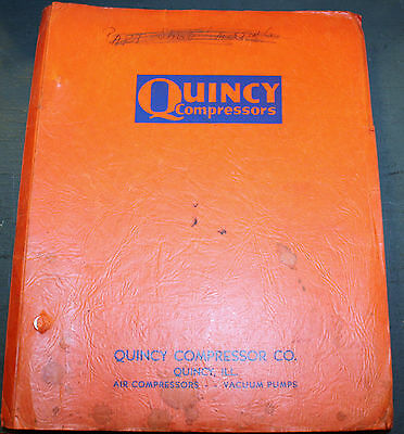 Quincy Compressor Co. Master Price List, Parts I.D. Drawings, Instructions, Etc!