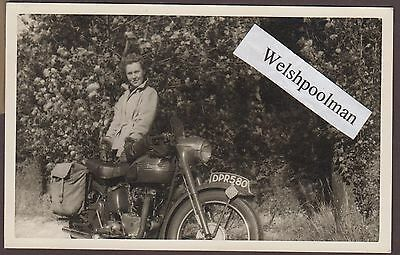 Lovely Vintage 1953 Lady & Triumph Motorcycle DPR 580 Bournemouth Registration