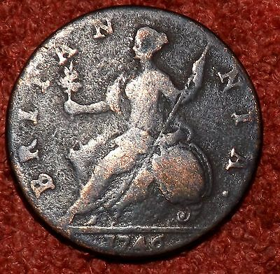 1746 George II Halfpenny  - Collect / Filler Grade & Detail