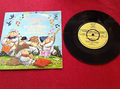 The Wombles Song / Remember Your A Womble 1974 Vinyl 45 Rpm P/ Sleeve Record