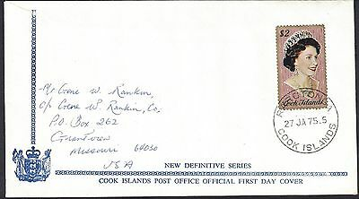 Cook Islands - 1975 $2.00 New Definitive On Fdc To Missouri , Usa  -  B - 93